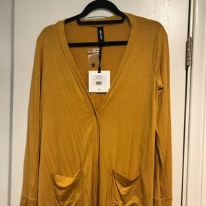 NWT small mustard cardigan